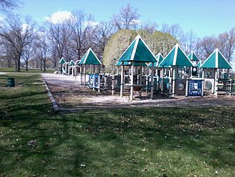 Warren, Michigan - Shaw Park located in Southwest Warren.