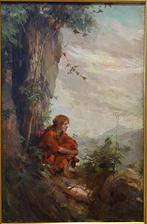 The Trail of the Lonesome Pine (novel) - She Had Never Been Up There Before..., by Frederick Coffay Yohn, c. 1906, published in The Trail of the Lonesome Pine by John Fox, Jr., Scribner's, 1908 - New Britain Museum of American Art