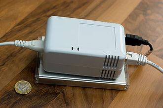 SheevaPlug - Image: Sheeva Plug with external drive enclosure