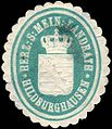Siegelmarke Herzoglich S. - Mein. - Landrath - Hildburghausen W0221892.jpg