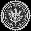 Siegelmarke Königl. Pr. evang. Schul. Seminar zu Schlüchtern W0313091.jpg