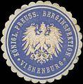 Siegelmarke Königl. Preuss. Berginspektion Vienenburg W0331697.jpg