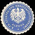Siegelmarke Königlich Preussisches Stempel - und Erbschaftssteueramt - Altona W0234854.jpg