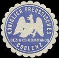 Siegelmarke K.Pr. Bezirks-Kommando Coblenz W0363100.jpg