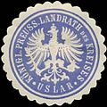 Siegelmarke K.Pr. Landrath des Kreises Uslar W0385016.jpg