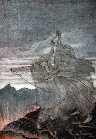 Götterdämmerung - The Norns vanish (Arthur Rackham, 1911)