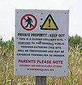 Sign at the old Cotgrave Colliery site - geograph.org.uk - 195895.jpg