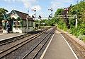 Signalbox and gantry at Hythe station.jpg