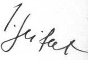 Jaroslav Seifert - Image: Signature of Jaroslav Seifert