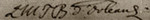 Signature of the Duchess of Bourbon (L M T B d'Orléans) at the baptism of Marie Thérèse Charlotte of France, December 1778.png
