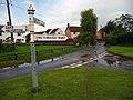 Signpost at centre of Hillfarrance village - geograph.org.uk - 1708950.jpg