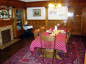 Dining room of The Simmons-Bond House, located...