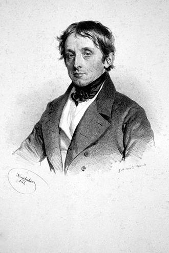 Simon von Stampfer - Simon Stampfer, Lithograph by Josef Kriehuber, 1842