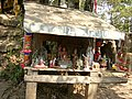Simple spirit house-Wat Kham Chanot.JPG