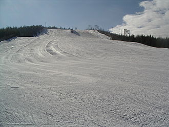 Piste - Groomed, un-skied piste in Seibelseckle, Germany