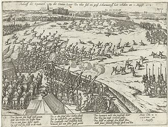 Battle of Rijmenam (1578) - Spanish attack on the States army, by Frans Hogenberg.
