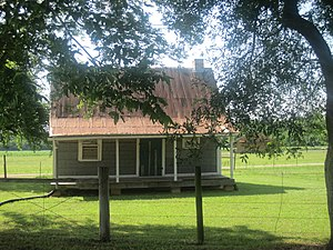 Oakland Plantation (Natchitoches, Louisiana) - Slave quarters at Oakland Plantation