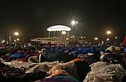 Hunderttausende Pilger schlafen wie geplant in der Nacht vom 20./21. August unter freiem Himmel