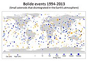 SmallAsteroidImpacts-Frequency-Bolide-20141114.jpg
