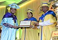 Smriti Irani presenting the degree to a student, at the 4th Convocation of the Indian Institute of Science Education & Research (IISER), Kolkata, at IISER, Mohanpur, Nadia, in West Bengal.jpg