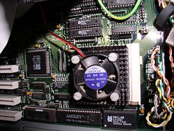 A socket 4 processor mounted on a motherboard