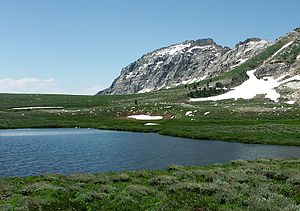 Soldier Lakes (Nevada) - The larger of the Soldier Lakes, and the Ruby Crest