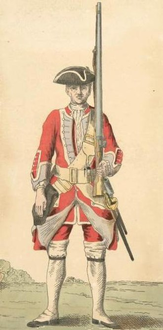 44th (East Essex) Regiment of Foot - Soldier of 44th regiment, 1742