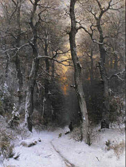 Sophus Jacobsen Sunset in the Forest 1878.jpg