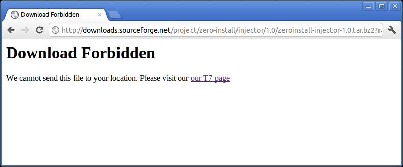 SourceForge.net - Download Forbidden
