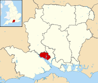 Southampton shown within Hampshire
