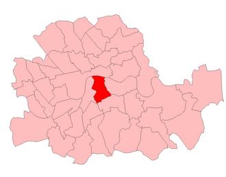 Southwark (UK Parliament constituency) - Southwark in London, 1950-74