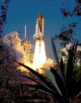 STS-99 - STS-99 launches from Kennedy Space Center, 11 February 2000.