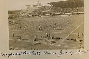 Spaghetti Bowl (American football) - Military Football game on January 1, 1945 in Florence, Italy: 5th Army vs Air Force.