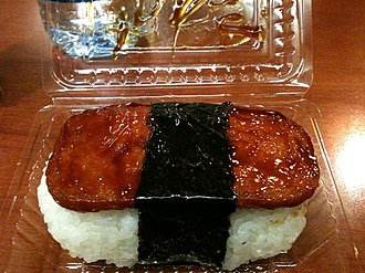 Spam (food) - Spam musubi is a popular snack and lunch food in Hawaii