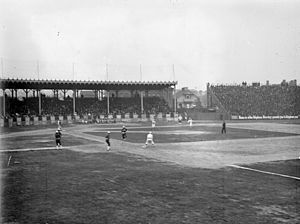 Sportsman's Park - The 1902 version of Sportsman's Park, with the diamond located on the northwest corner.