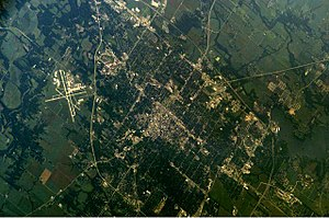 Springfield, Illinois - Photography of Springfield taken from the International Space Station (ISS)