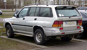 SsangYong Motor - The Musso was a result of collaboration between SsangYong and Daimler-Benz.