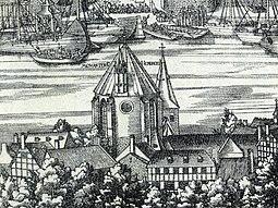Abadía de San Heriberto en Deutz entre 1531-57, obra de Anton von Worms.