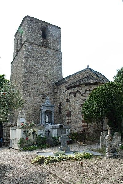 Saint-Julien (Hérault) - Chevet du prieuré.