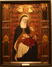 St. Anne and the Virgin - Ramons Destorrents, Arnan and Ferrer Bassa - c. 1350 - Tempera on panel.JPG