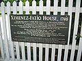 St Aug Zimenez-Fatio House sign02.jpg