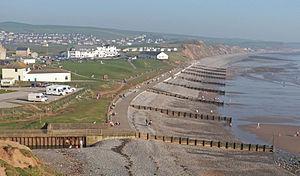 Coast to Coast Walk - Image: St Bees seacote beach promenade