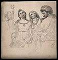 St Cecilia, a bishop, St John and St Paul. Drawing, c. 1794, Wellcome V0009221.jpg