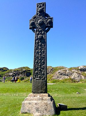 Dál Riata - 9th century St Martin's Cross on Iona.