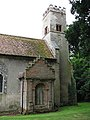 St Michael's church, Oxnead, Norfolk - tower and C17 north porch - geograph.org.uk - 880374.jpg