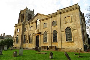 Thomas Cartwright (politician) - St Michael's Church in Aynho, rebuilt from 1723 for Thomas Cartwright