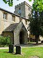 St Peter, Bucknell, Oxon - Porch tower.jpg