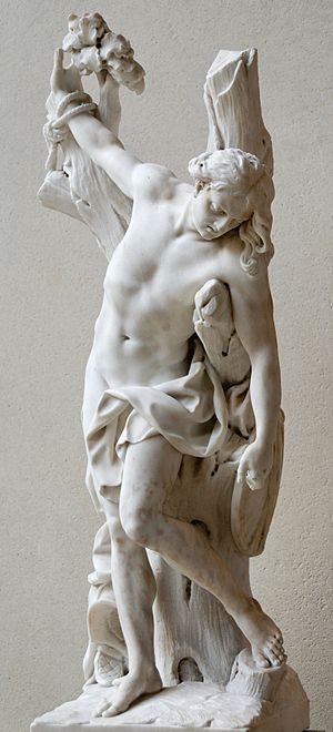 François Coudray - Marble of Saint Sebastien, today displayed in the musée du Louvre