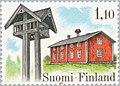 Stamp of Finland - 1979 - Colnect 46900 - Mäki Rasinperä House - meal bell Kuortane.jpeg