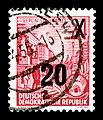 Stamps GDR, Fuenfjahrplan, 24 (20) Pfennig, Buchdruck 1954, 1957 (Originalstempel).jpg
